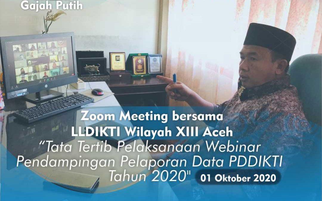 Sosialosasi Pendampingan Pelaporan Data PDDIKTI Tahun 2020